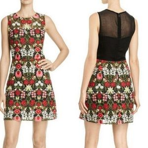 NWOT Lucy Paris Embroidered Mesh Mini Dress
